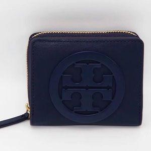 Tory Burch Charlie mini bi-fold wallet Navy